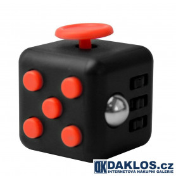 Uklidňující Fidget Cube proti stresu / Antistresová kostka - černo červená