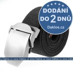 Elegantní černý tkaný opasek / pásek