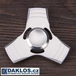 Kovový stříbrný Fidget Spinner / Spinee proti stresu / Antistresové ložisko