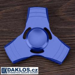 Kovový modrý Fidget Spinner / Spinee proti stresu / Antistresové ložisko