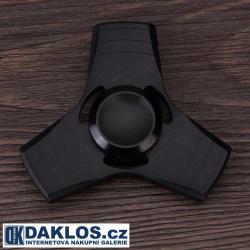 Kovový černý Fidget Spinner / Spinee proti stresu / Antistresové ložisko