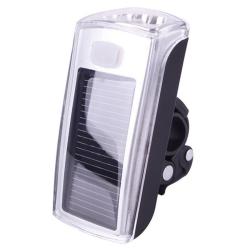 Solární LED přední bílé světlo nejen na kolo s USB