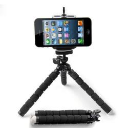 Mini flexibilní stativ a držák pro telefon / sada