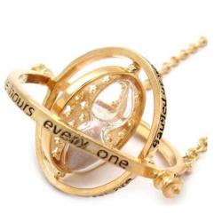 Přesýpací hodiny / Obraceč času - náhrdelník / řetízek