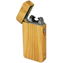 Kovový větruodolný PLAZMOVÝ nabíjecí elektronický zapalovač - dřevo
