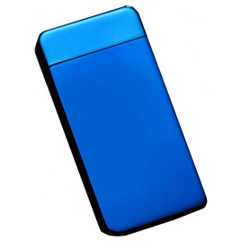 Větruodolný PLASMOVÝ nabíjecí elektronický zapalovač - modrý