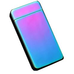 Kovový větruodolný PLAZMOVÝ nabíjecí elektronický zapalovač - barevný