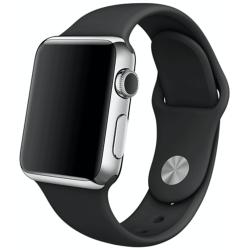 Silikonový pásek na Apple iWatch - černý