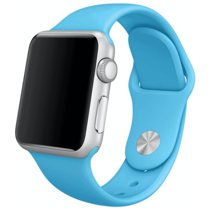 Silikonový řemínek na Apple Watch - Světle modrý, Šířka hodinek 38 mm