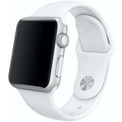 Silikonový pásek na Apple iWatch - Bílý
