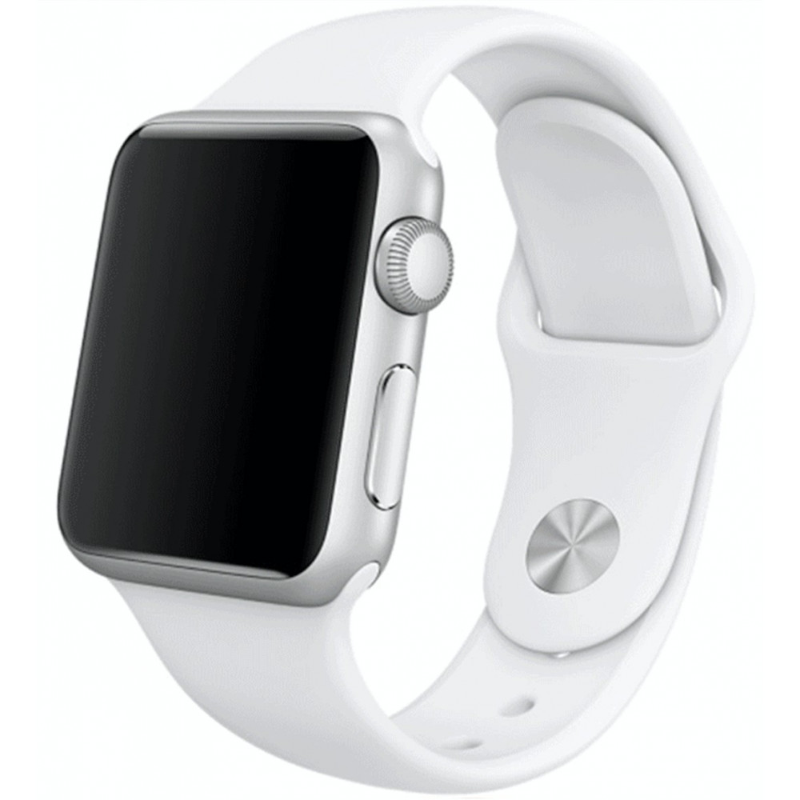 Silikonový řemínek na Apple Watch - Bílý, Šířka hodinek 38 mm