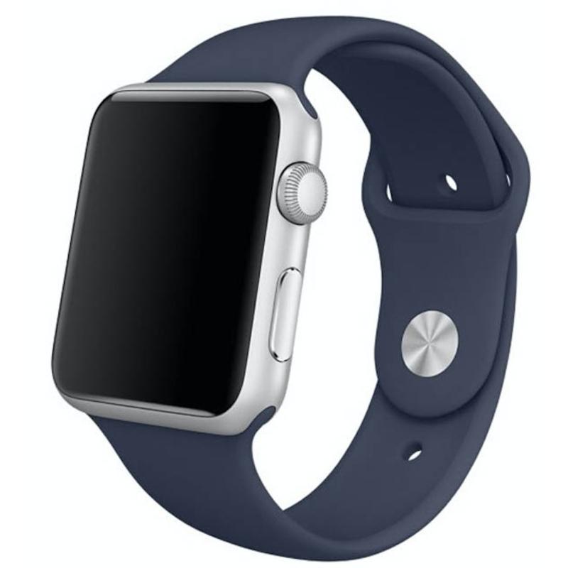 Silikonový řemínek na Apple Watch - Modrý, Šířka hodinek 38 mm