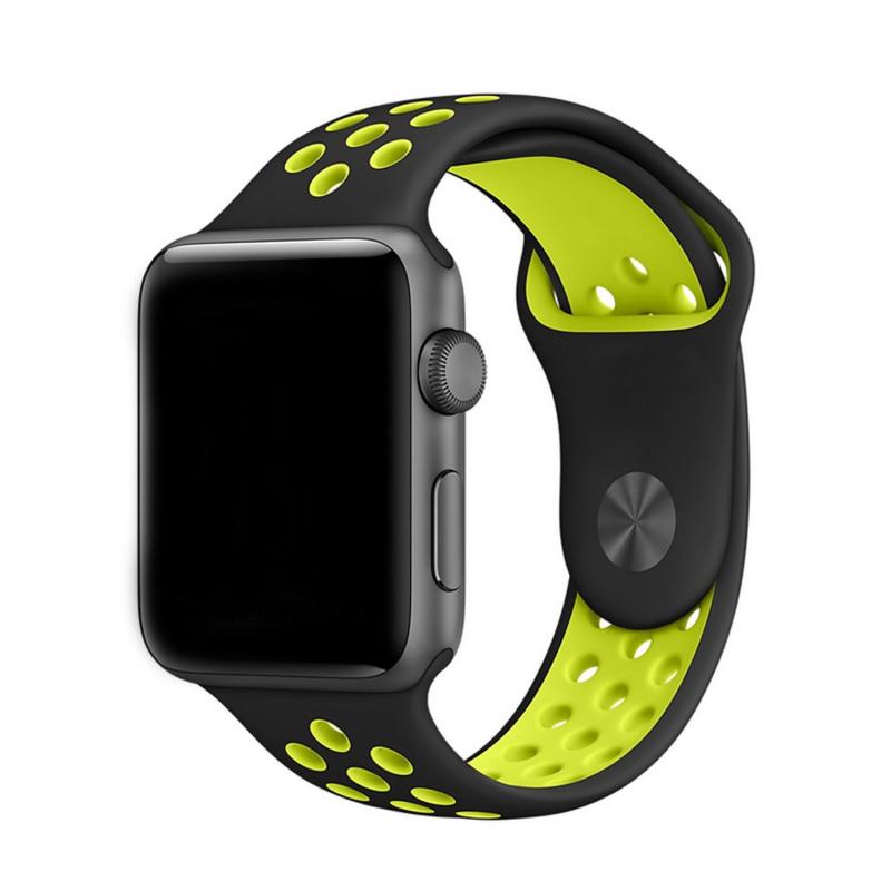 Sportovní řemínek na Apple Watch - černý/neon, Šířka hodinek 38 mm