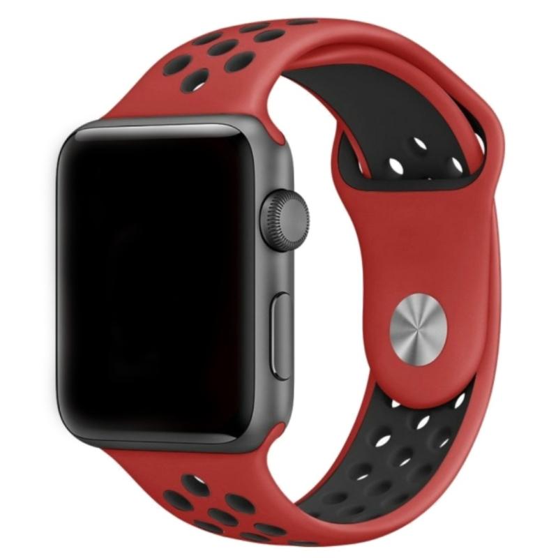 Sportovní řemínek na Apple Watch - červený / černý, Šířka hodinek 38 mm