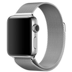 Nerezový ocelový pásek na Apple Watch - Stříbrný