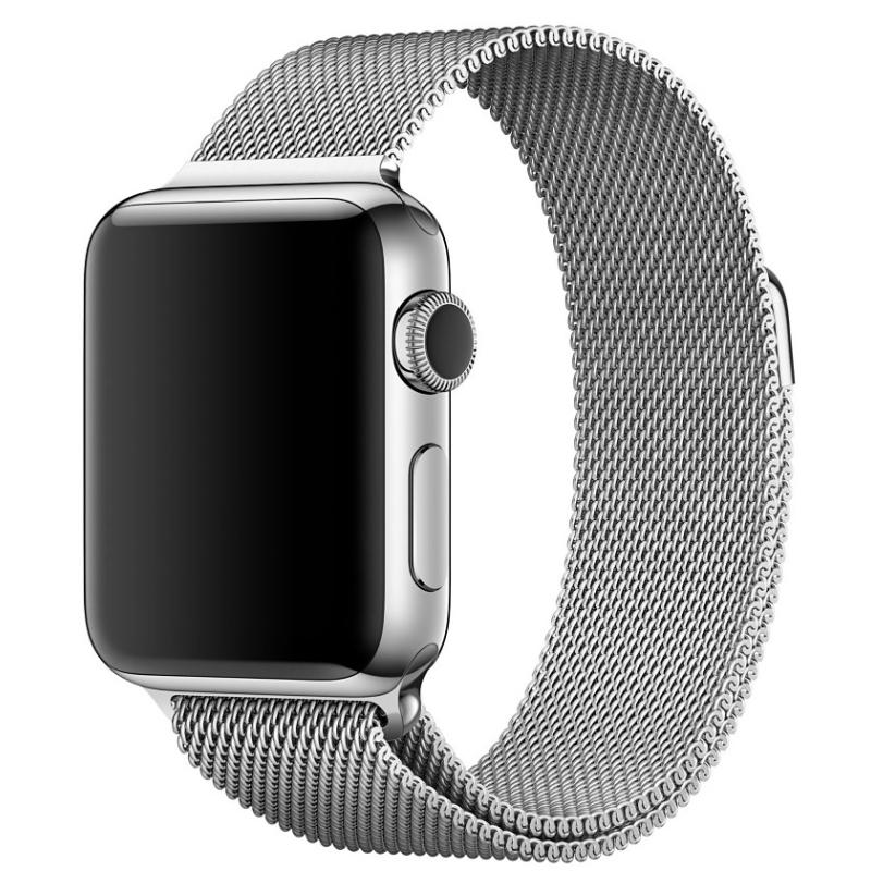 Nerezový ocelový řemínek na Apple Watch - Silver, Šířka hodinek 38 mm