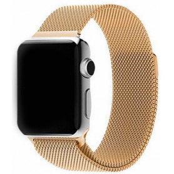 Nerezový ocelový pásek na Apple Watch - Zlatý
