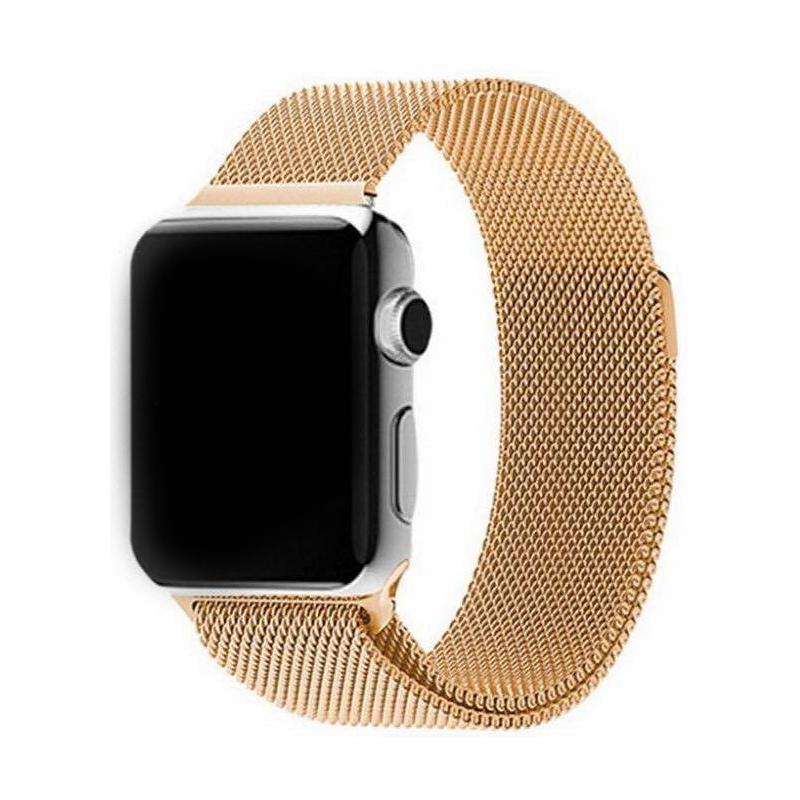 Nerezový ocelový řemínek na Apple Watch - Gold, Šířka hodinek 38 mm