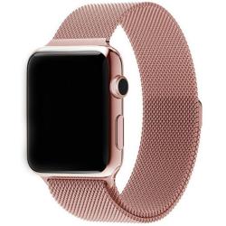 Nerezový ocelový pásek na Apple Watch - Rose Gold