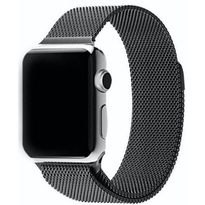 Nerezový ocelový řemínek na Apple Watch - Black, Šířka hodinek 38 mm