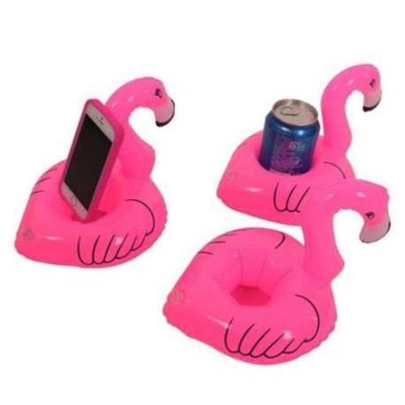 3 kusy - Nafukovací plovoucí plameňák na pití