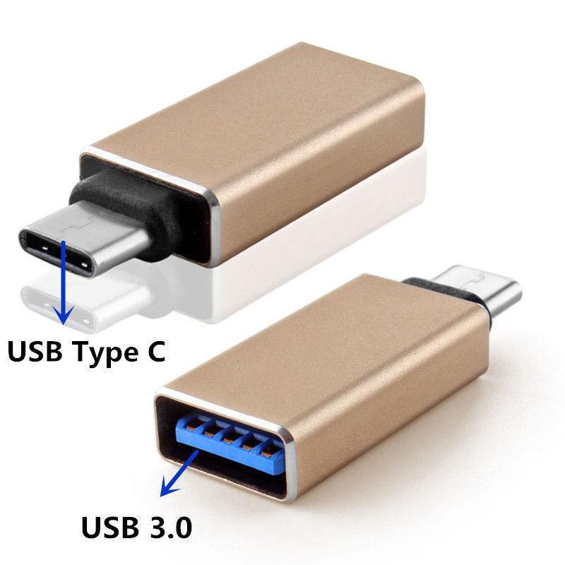 Redukce USB-C / USB 3.0 pro MacBook / Notebook / Telefon , Barva Černá