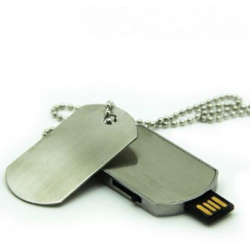 Náhrdelník / řetízek Flash disk 16GB Psí známka / Dog Tag