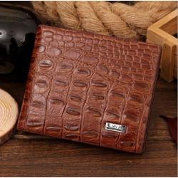 Pánská peněženka se vzorem krokodýlí kůže