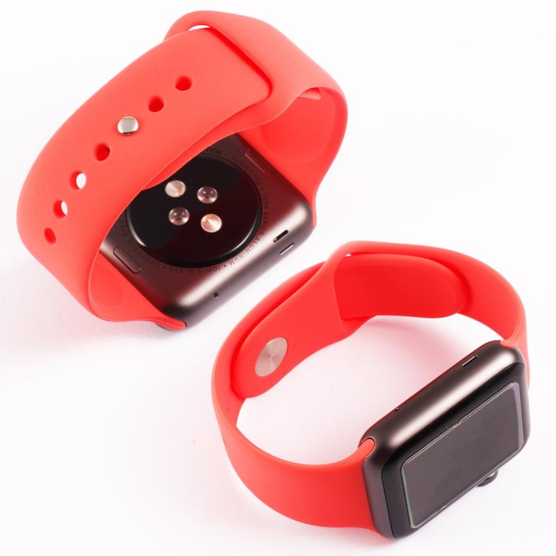 Silikonový řemínek na Apple Watch - červený, Šířka hodinek 38 mm