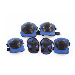 Sada modrých chráničů pro děti na kolo, hoverboad, kolonožku, kolečkové brusle