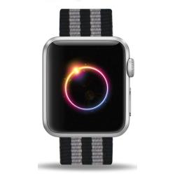 Nylonový řemínek pro Apple Watch - černý B