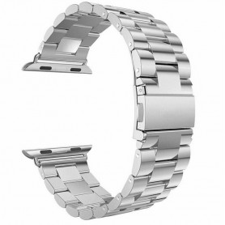 Luxusní ocelový nerezový řemínek pro Apple Watch - stříbrný