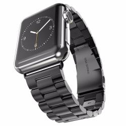 Luxusní ocelový řemínek pro Apple Watch - černý