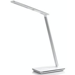 Stolní lampička s bezdrátovým nabíjením QI - bílá