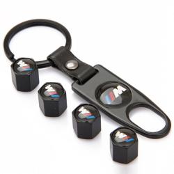 BMW ///M čepičky ventilků + přívěsek / utahovák - černé