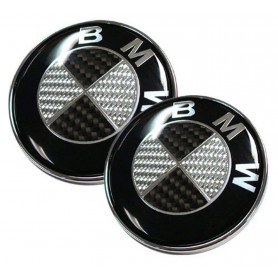 Set znaků BMW 82mm + 74mm - CARBON