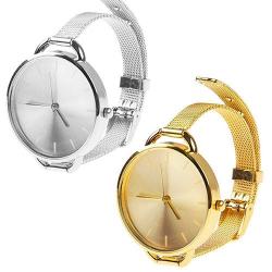 Dámské exkluzivní hodinky s tenkým kovovým páskem