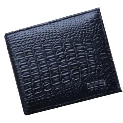 Pánská stylová peněženka se vzorem krokodýlí kůže