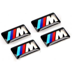 4ks Sada - Nálepky na auto - BMW ///M