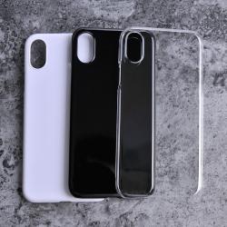 Kryt / pouzdro na iPhone X - tvrdý plast, černý