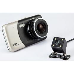 Dvojitá dotyková FHD kamera do auta + parkovací kamera