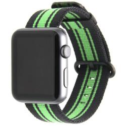 Sportovní nylonový řemínek na Apple Watch - želený / černý