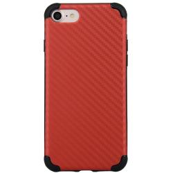 Luxusní kryt / pouzdro pro iPhone 7 / 8 se vzorem karbonu - černý