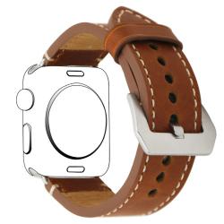 Elegantní kožený řemínek na Apple Watch - světle hnědý