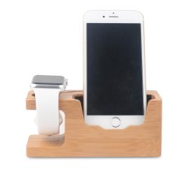 Dřevěný nabíjecí držák / stojánek na Apple Watch / iPhone