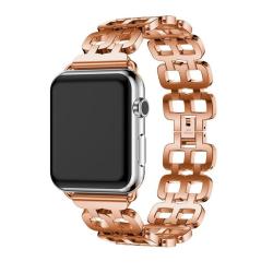 Unikátní řemínek na Apple Watch z nerezové oceli - ROSE GOLD