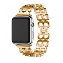 Unikátní řemínek na Apple Watch z nerezové oceli -  GOLD