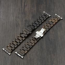 Exkluzivní DŘEVĚNÝ řemínek na Apple Watch - tmavě hnědý