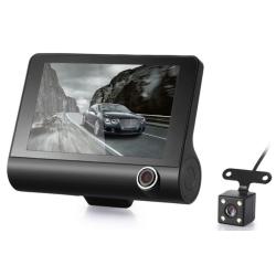 TROJITÉ záznamové zařízení / kamera do auta LOOP s velkým LCD displejem