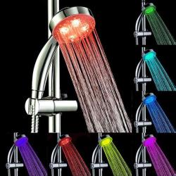 Barevná LED sprchová hlavice / svíticí sprcha